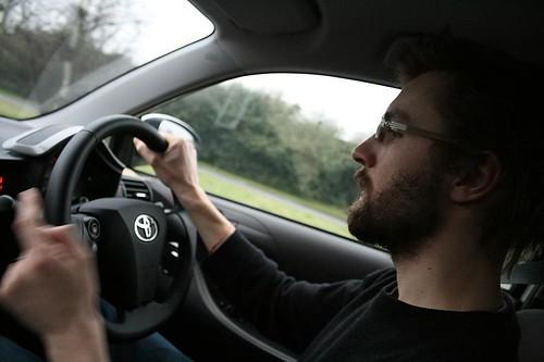 driving toyota iq