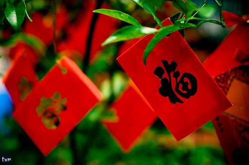 Hanging Red Packets (Ang Pao) by JasonDGreat.