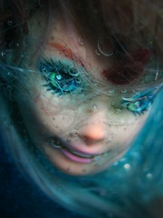 AquaBarbyGirl (Sea Moon) Tags: portrait face swimming aqua doll underwater barbie bubbles aquatic bluegreen
