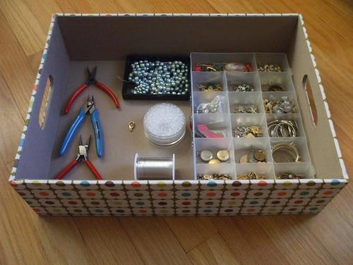 Orla Kiely boxes - beading projects