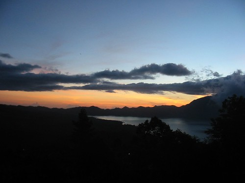 Zonsopgang boven Lake Batur