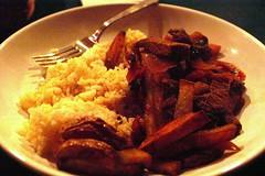 what i made for dinner :: lomo saltado