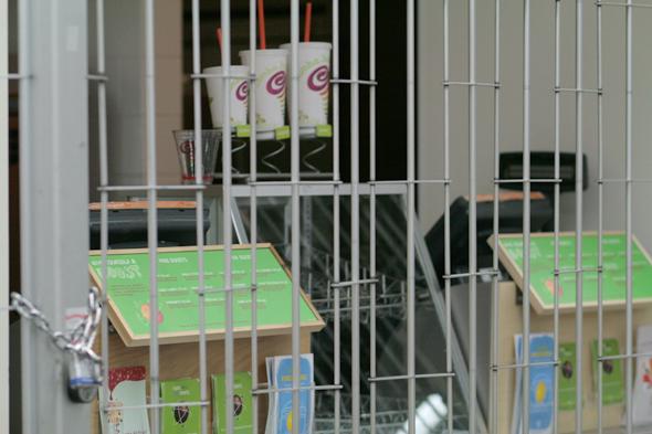 Jamba Juice behind bars