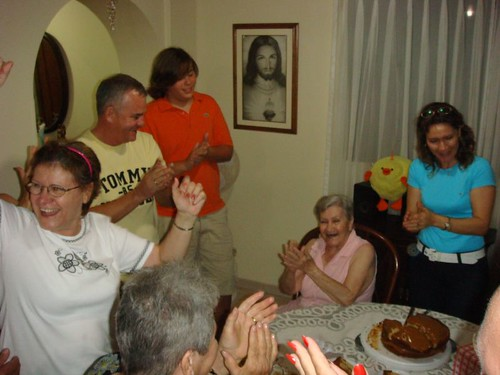 Birthday gathering in Cartagena. And Jesus was invited as well...