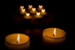 20090214 burning hearts? (SteenT) Tags: cozy candle candlelight 365 valentinesday project365 steentalmark talmark