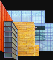 facade collage (eYe_image) Tags: abstract building architecture michigan annarbor rossschoolofbusiness colourartaward