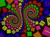cubeMessage (fdecomite) Tags: spiral cube math letter doyle povray