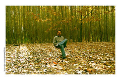 Alone in Autumn (pedramatic) Tags: 2005 autumn selfportrait tree fall me forest self alone iran jungle  esfahan a75 isfahan canonpowershota75      pedram mobarakeh     pedramatic      aloneinautumn saraaroud sararood