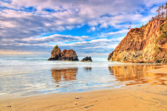 Oregon Beach Looking NW (JamesWatkins) Tags: ocean sunset usa sun seascape lightpainting art nature water beauty fog oregon writing coast interesting nikon rocks poetry nw waves seascapes unitedstates sundown pacific northwest unitedstatesofamerica digitalart wideangle pacificocean writers wa oregoncoast poems sunrays westcoast hdr beautifulclouds pacificcoast sunbeams poets digitalphotography sunandwater d300 sigma1020mm nkon rocksandwater creativewriting creativewriters oceanscape waterandrocks alittlehdr the4elements jameswatkins thewestcoast coastlne theleftcoast cloudsandwater windsandandwater vosplusbellesphotos