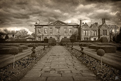 coombe abbey (Som Jandu) Tags: bw abbey sepia garden landscape cathedral religion coventry coombeabbey photographyrocks