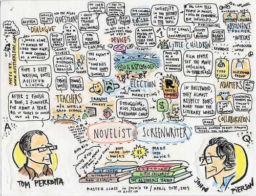 Tom Perrotta Master Class, by Austin Kleon on Flickr