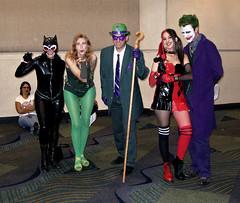 Batman Villain Group (sciencensorcery) Tags: comics dc cosplay batman scifi joker conventions fx catwoman riddler poisonivy harleyquinn fx09