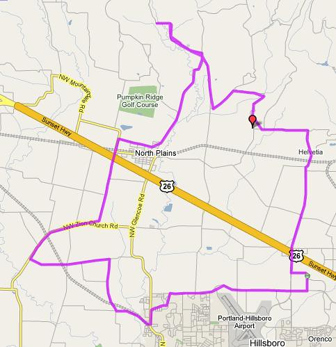 Today's route map