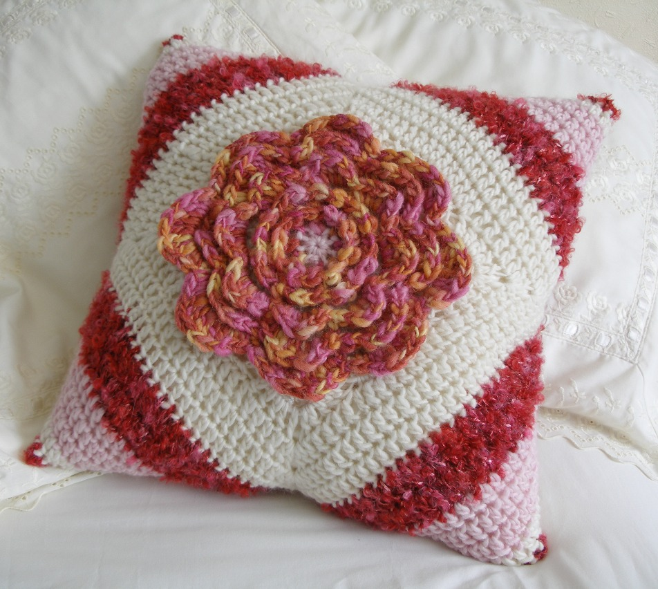 Cozy crochet swap cushion