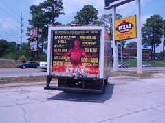 religious panel truck