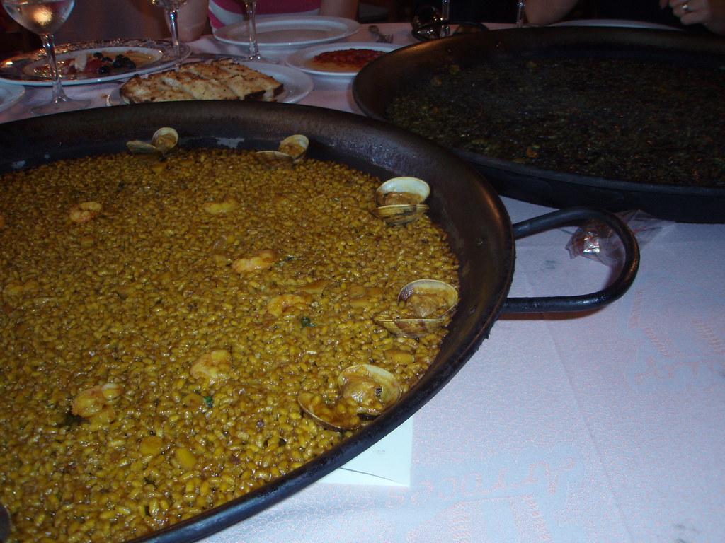 Arroz de marisco y arroz negro