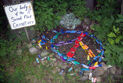 20090702 - X-Day - GEDC0217 - dead lighter shrine - please click through to leave a comment on FlickR