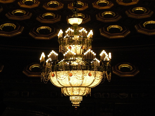Chandelier inside the Benedum Center.
