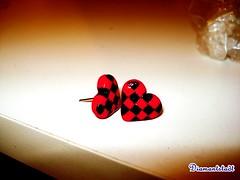 Brinco coração quadriculado (Diamantstadt) Tags: amor bijoux preto vermelho coração minifood brinco brincos diamante bijouteria vermelhoepreto brincodecoração diamantstadt quadriclado candybijoux