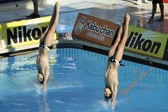 Stephan Feck e Patrick Hausding nella (gongolo) Tags: roma sport diving piscina nuoto germania tuffo foroitalico trampolino sincro tuffatore mondialidinuotofinaroma09 stephanfeck patrickhausding