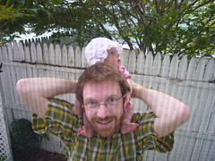 Baby's first shoulder ride!