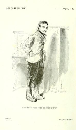 005-El dinero-la caridad es un placer del que es necesario saber privarse-dibujo de Gavarni