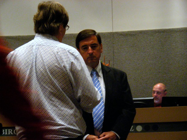 Mayor Dan Sullivan; Assembly Mike Gutierrez in background