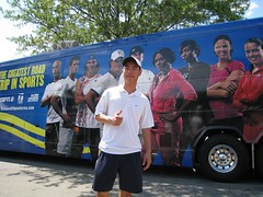 US Open Series Tennis Bus with Jacky