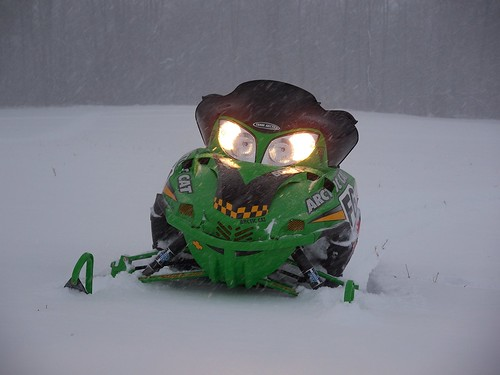 Playing in the snow · Arctic Cat F6