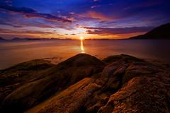 [フリー画像] [自然風景] [海岸の風景] [海の風景] [夕日/夕焼け/夕暮れ]       [フリー素材]