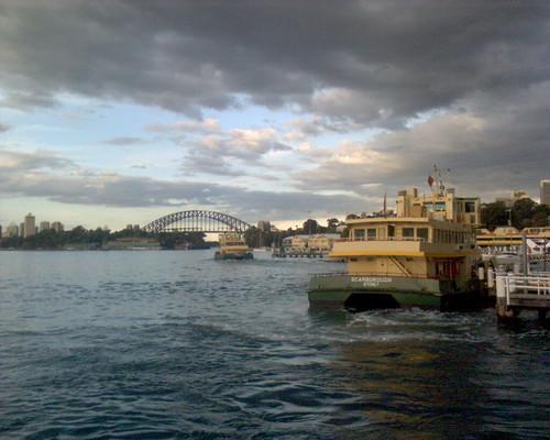 Ferries arrive and leave Balmain wharf 2