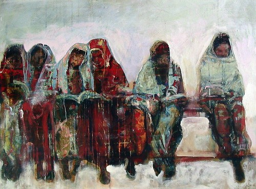 girls studying by georgianne fastaia.