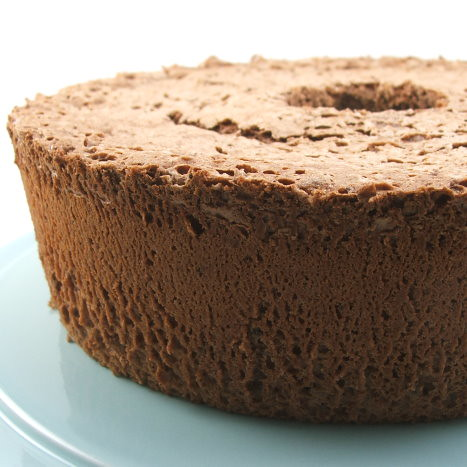 Chocolate Angel Food Cake - Evil Shenanigans