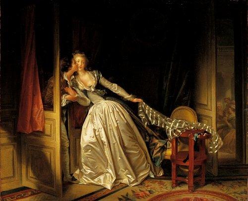Le Baiser à la dérobée, Jean-Honoré Fragonard et Marguerite Gérard. Saint-Pétersbourg, musée de l'Ermitage. Photo : D.R