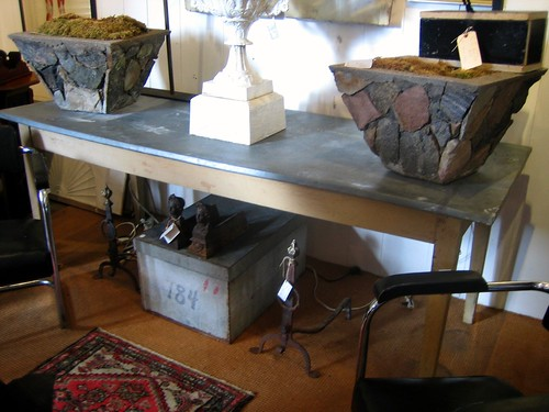 Zinc Top Table at Withington Antiques
