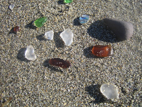 Sea glass at Glass Beach