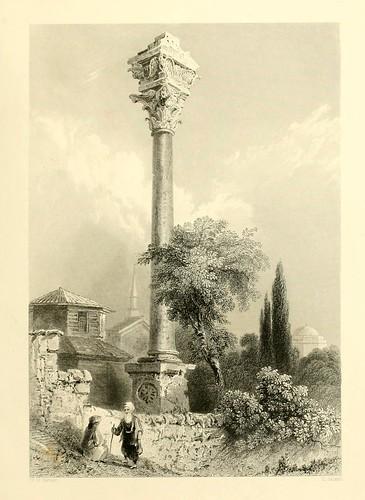014- La columna de Marciano-Las bellezas del Bosforo 1838-W.H. Bartlett