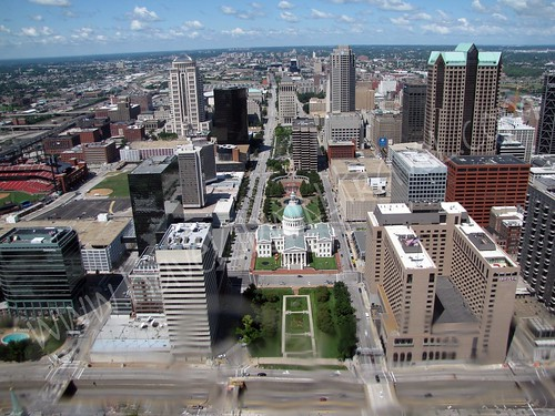Downtown St. Louis, Missouri, as viewed from the Gateway Arch