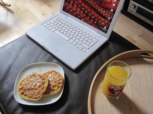 waffles and OJ