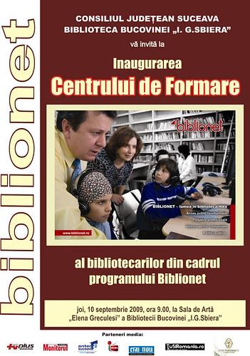 10 Septembrie 2009 » Deschiderea Centrului de Formare Biblionet