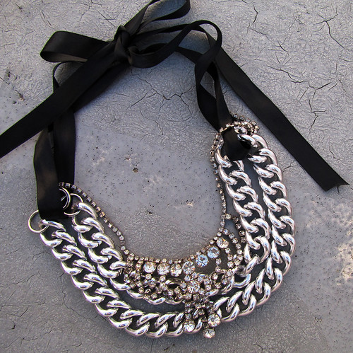 chunky-chain-vintage-rhinestone-necklace-layering