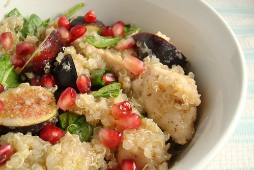 Quinoa Fig and Pomegranate Salad (eh)