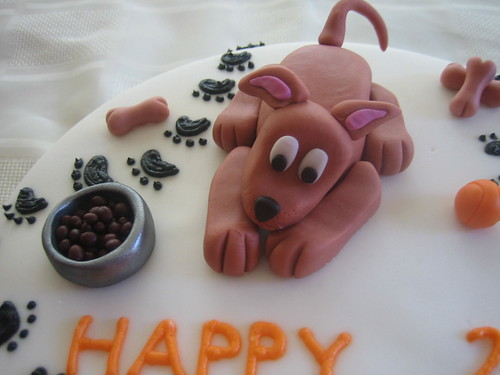 Dog Birthday Cake - Close Up