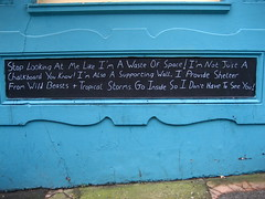 Existentialist chalkboard (adactio) Tags: pub brighton chalkboard earthandstars
