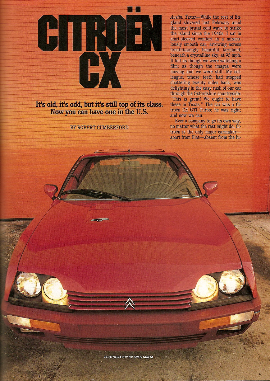 VWVortex.com - I saw a Citroen CX 25 GTI in NJ yesterday