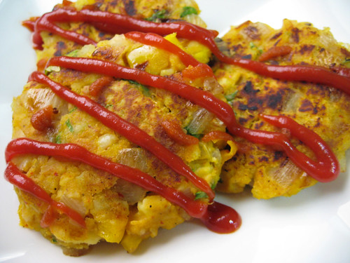 Samosa Mashed Sweet Potato Pancakes