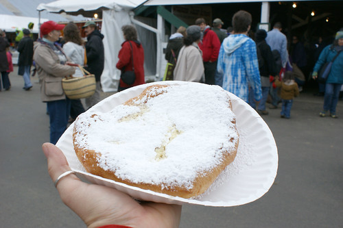 What I ate at Rhinebeck: fried dough with butter and sugar
