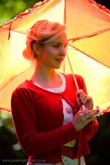 Heidi 01 (paulwrightphoto) Tags: park uk portrait backlight newcastle heidi retro parasol backlit heatonpark