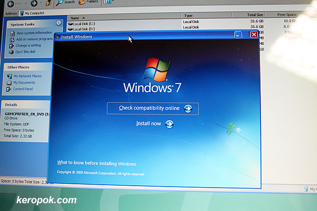 Windows 7 on my old notebook