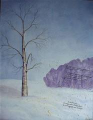 La sagesse du bouleau (artslorraine) Tags: collage watercolor aquarelle lgende amrindienne